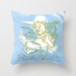 Unicorn Fucking a Dolphin Throw Pillow