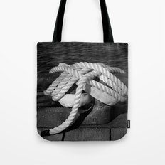 Mooring Rope tied to the dock Tote Bag