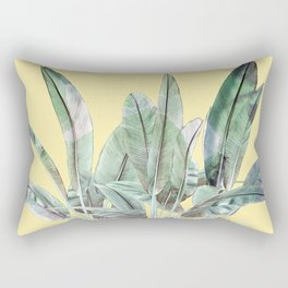Bananas Leaves in Yellow Rectangular Pillow