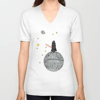 le petit prince V-neck T-shirts featuring Le Petit Vader by Beth Naeyaert
