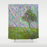 trip Shower Curtains featuring trip by Albertoch