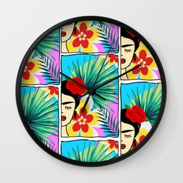 Half Frida Artwork Wall Clock