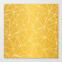 Mosaic Triangles Repeat Seamless Pattern gold Canvas Print
