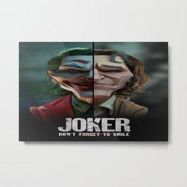Joker (2019 Movie) Joker smile digital poster humor green hair face makeup Arthur Fleck Metal Print