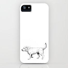 Labrador Retriever Ink Drawing iPhone Case