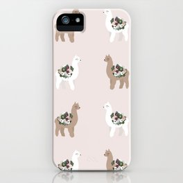 alpaca print iPhone Case