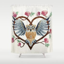 lovely owl Shower Curtain