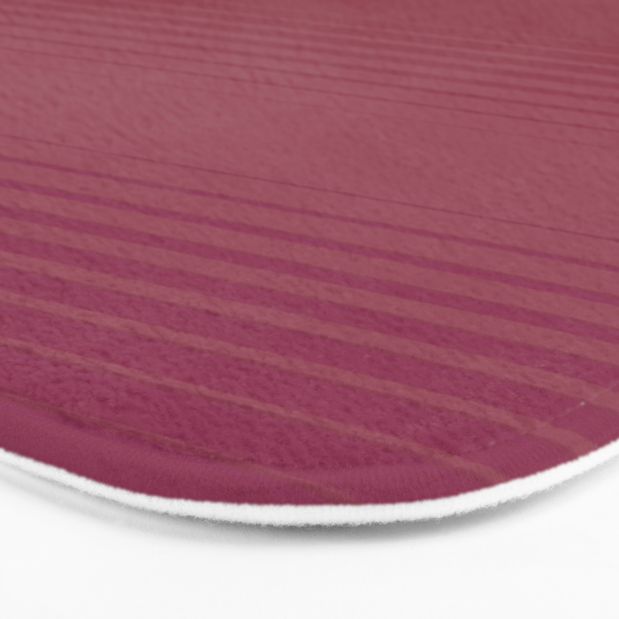 Subtle Stripe Coral and Pink Pattern Bath Mat