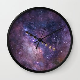 Abstract Outer Space Traveler Wall Clock