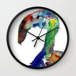 not a pink flamingo Wall Clock