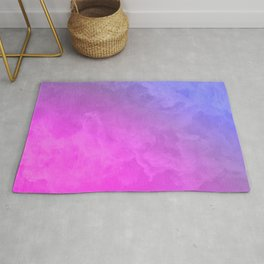 Smoke - pink and purple Rug