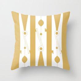 Clothespin // Gold Throw Pillow