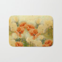 Vintage Poppies Bath Mat