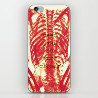 nicolas cage iPhone & iPod Skins featuring Rib Cage  by troymac1892