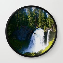 Gushing Waterfall Wall Clock