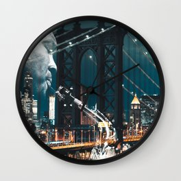 Jazz in New york Wall Clock