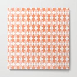 Indigo & Papaya Pattern 13 Metal Print