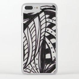 Fantasy Leaf Clear iPhone Case