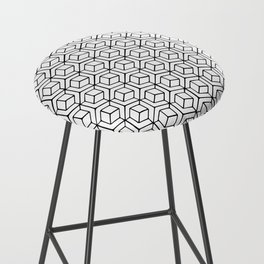 Hand Drawn Hypercube Bar Stool