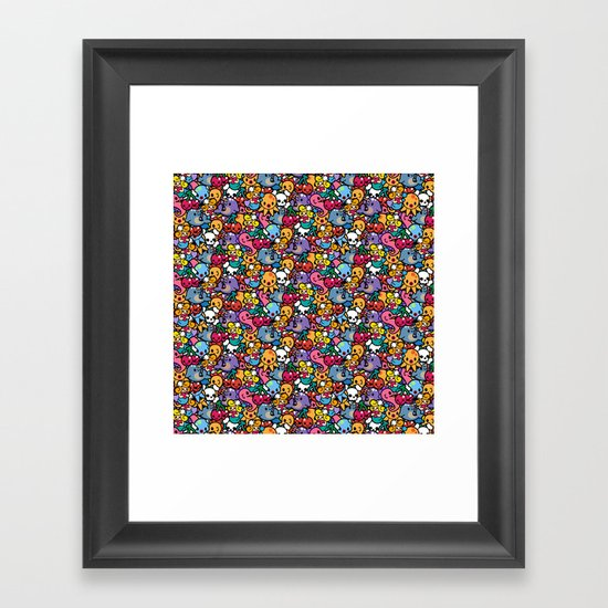 Sea pattern 02 Framed Art Print