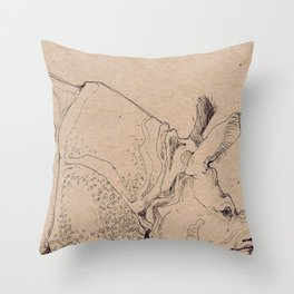 Rhinocerous Throw Pillow