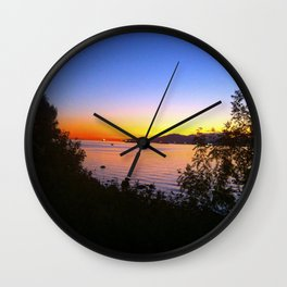 Fire sunset Wall Clock