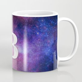 Monogrammed Logo Letter B Initial Space Blue Violet Nebulaes Coffee Mug