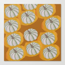 little green pumpkin Canvas Print