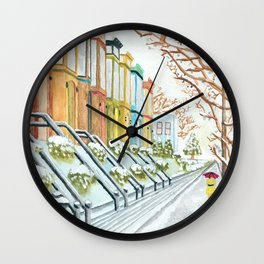 Winter in NYC Wall Clock