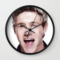 niall horan Wall Clocks featuring Niall Horan - One Direction by jrrrdan