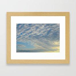 Cirrusly Stratus Waves Framed Art Print