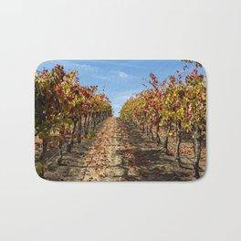 Fall Grape Vineyard Bath Mat