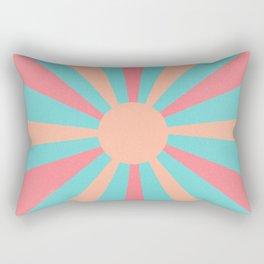 pink and peach sunshine Rectangular Pillow