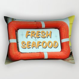 Fresh Local Seafood Rectangular Pillow