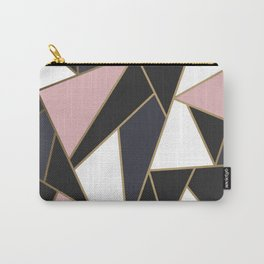 Rose Gold Modern Mosaic Carry-All Pouch