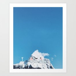 cutie mountain Art Print