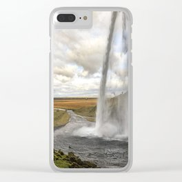 Seljalandsfoss in Iceland Clear iPhone Case