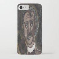 edgar allen poe iPhone & iPod Cases featuring Edgar Allen Poe by Maurissa Vigil