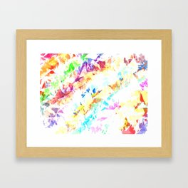 Glass Leaves Framed Art Print