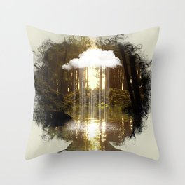 Mind Rain Throw Pillow
