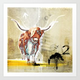 The Highland Cattle Art Print