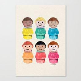 Little Girls Canvas Print