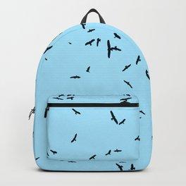 Bird Irruptions Seeking Safer Habitat Black Silhouette Backpack