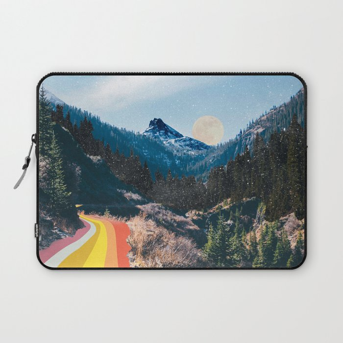 1960's Style Mountain Collage laptop sleeve by Justine Henderson