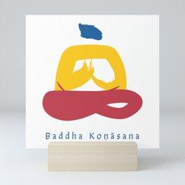 Baddha Konasana (Throne Pose) Yoga Pose Illustration - Series 1 Mini Art Print