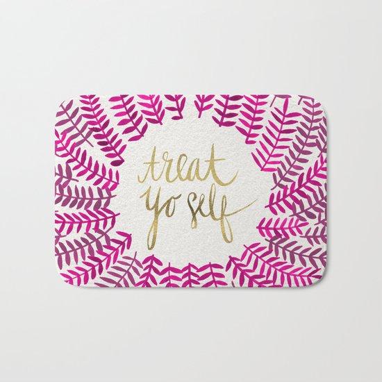 Treat Yo Self – Pink & Gold Bath Mat
