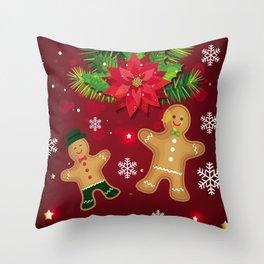 gingerbread man cookies Throw Pillow