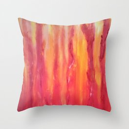 Watching the flames dance Throw Pillow
