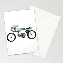 Vintage Green Racer 136 Stationery Cards