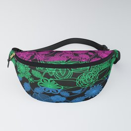 Flight Over Flowers of Fantasy - Polysexual Pride Flag Fanny Pack